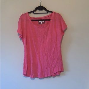 NWT Anthropologie Pure + Good Simple Pink Tee